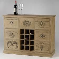 Boite vin bois vide