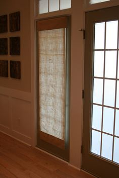 Roman Shades for the French doors