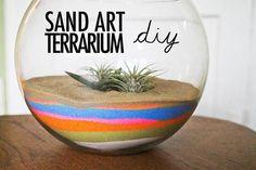 sands, terrarium art, diy sand, 70s diy, terrarium sand