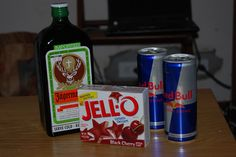 not usually a huge fan of jager.. but redbull and black cherry jello sounds like a good combo!