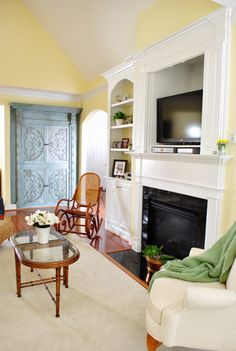 fireplace with tv cabinet