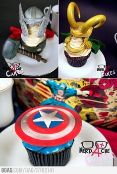 Avengers Cupcakes: No link Just pic