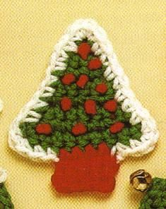 Free Crochet Christmas Tree Magnet Pattern
