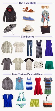 Packing For Europe: Summer Travel Edition
