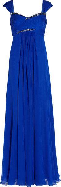silkchiffon gown, blue nott