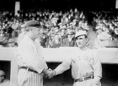 Managers John McGraw, New York NL, and Jake Stahl, Boston AL, at World Series in 1912.