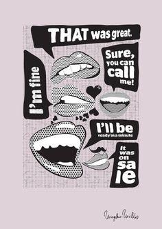 'Talking Lips', art print by Marko Milin  on artflakes.com