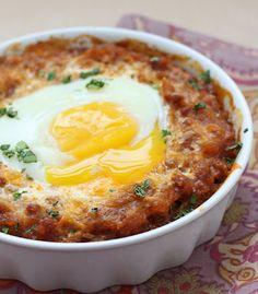 cheesy chorizo and spaghetti squash egg bake