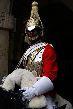 Black British Horseguard at Buckingham Palace