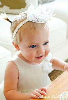 Baby birthday crown. too cute!