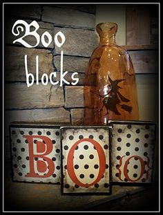Stick Finials in the TOP of BOO Blocks!