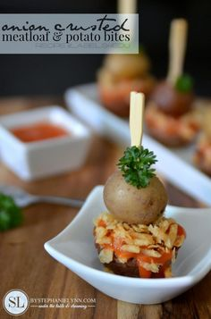 Onion Crusted Meatloaf and Potato Bites | campbell's labels for education #labels4edu #shop #cbias #recipe #appetizer