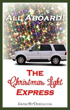 Start a new family tradition with The Christmas Light Express! FREE printable tickets! #ChristmasLights #Christmas #ChristmasTraditions
