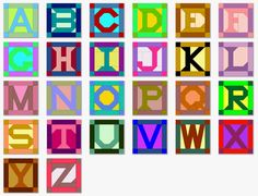 quilt block patterns | Alphabet Quilt Block Patterns with Templates