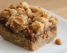 Peanut Butter & Jelly Bars {Gluten-Free}