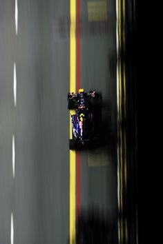 Mark Webber in the Singapore Grand Prix, 2010.