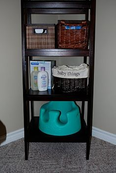 Might need something like this for living room family room for all extra baby items would need outside of the babies room