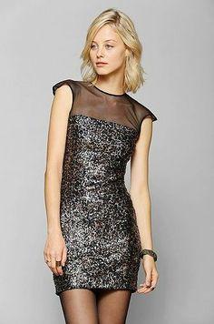 REVEL: Aubrey Sequin Body Con Dress