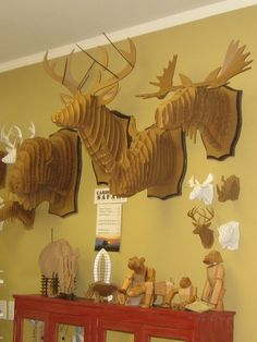 Cardboard Safari mounts