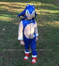 Homemade Duct Tape Sonic the Hedgehog Costume... Coolest Halloween Costume Contest