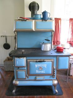 .blue stove