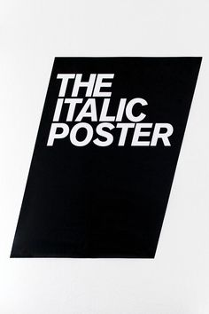 Italic Poster by Eivind Molvaer