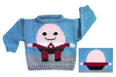 Dovetail Designs--Val Love--Humpty Dumpty Sweater to Knit (age 2 up)