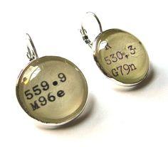 Dewey Decimal earrings