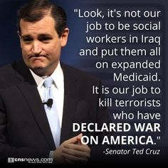 Ted Cruz: 'It's Not Our Job to Be Social Workers in Iraq' http://goo.gl/HyJwrp  Do you agree with Cruz?
