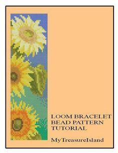 Sunflowers in Bloom Beaded Bracelet by MyTreasureIsland on Etsy, $5.75