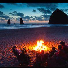 marshmallow, bonfires, dream, cannon beach, at the beach, oregon coast, summer nights, place, campfir