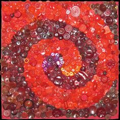 Many MANY Buttons -  All Red by Nancy Messier