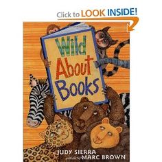 Wild About Books -- winner of the Irma S and James H Black Honor for Excellence in Children's Literature Award. This cute book is LOADED with vocab...conquer, resistance, stampeding, forsaking, outrageous, pretentious, redundant, etc.  Also contains lots of references to great classics like Cat in the Hat, Nancy Drew, Goodnight Moon, etc.
