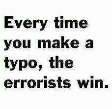 Photo: Copy editors' mantra ;-)