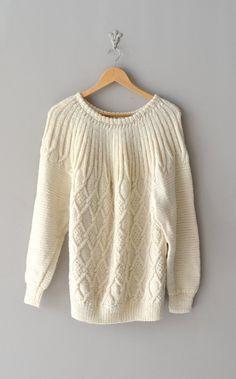 Honeycomb sweater | vintage sweater