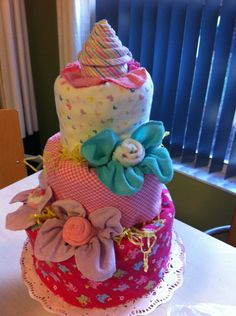 pink ombre diaper cake #mycreations
