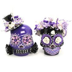 Skull Wedding Cake Topper A00152