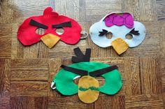 DIY Felt Angry Birds Masks