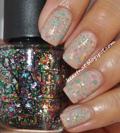 OPI Rainbow Connection and OPI Samoan Sand//need to try this mani!