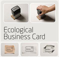 Tarjetas de presentación reusando lo que se encuentre #ecologica #imagencorporativa #reutilizar interesant pero, card interesant, business cards, papelería creativa, eco card, diseño, busi card