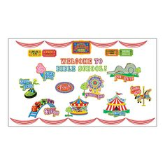 """Over The Top"" Bulletin Board Set - OrientalTrading.com"