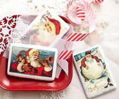 holiday, sugar cooki, postcards, season greet, christma cooki, cooki postcard, food gift, seasons, christma idea