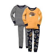 Carter's® Boys' 4-7 Yellow 4-pc. Football Pajama Set