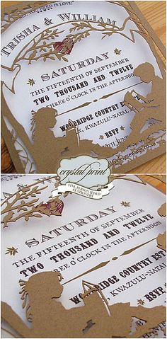 Laser cut party invitation