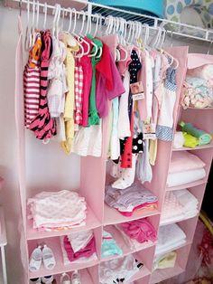 DIY Nursery « Spearmint Baby  Great idea for baby's closet.