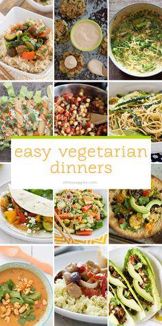 Easy Vegetarian Dinners - Oh My Veggies