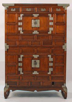 Antique Asian Furniture: Tansu Cabinet from Korea