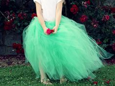 How To Make a Classic Tulle Maxi length Tutu: perfect for dressing up, dancing around AND costumes this Halloween! From The Sewing Rabbit for DIYnetwork.com