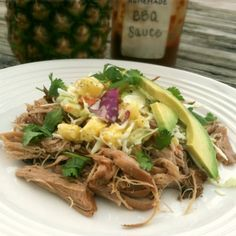 Slow Cooker Chipotle Pork with Pineapple Coleslaw | Primally Inspired