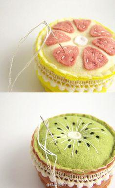Fruity pincushsions